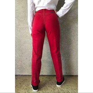 VINTAGE   red bareback wrangler jeans